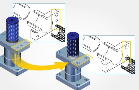3D CAD'den illüstrasyona otomatik güncelleme ve 3D yayınlama yeteneği